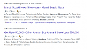 Google Ads for cars