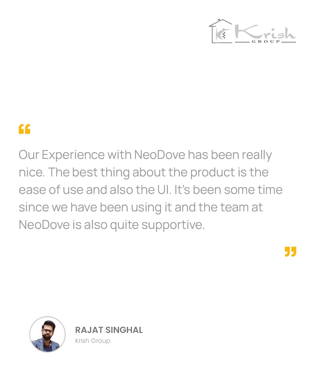NeoDove Testimonial_Phone_Krish_02